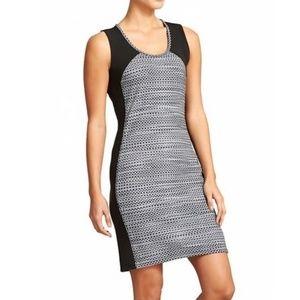 Athleta Dot Fuse Dress Gray Black XL Stretch